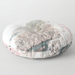 Positano, Italy pink-peach-white travel photography in hd. Floor Pillow