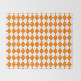 Diamonds (Orange/White) Throw Blanket