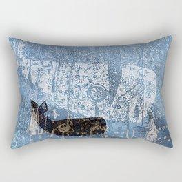 whale and spirit Rectangular Pillow