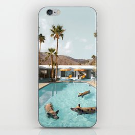 Pig Poolside Party iPhone Skin