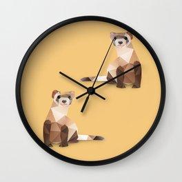 Ferret. Wall Clock