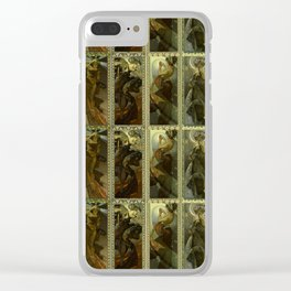 """Alphonse Mucha """"The Moon and the Stars Series"""" Clear iPhone Case"""