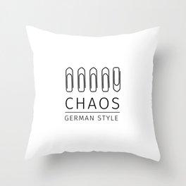 Chaos: German Style Throw Pillow