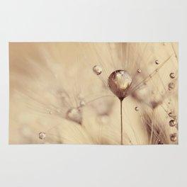 dandelion gold drop Rug