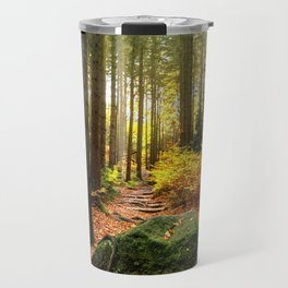 Path Through The Trees - Landscape Nature Photography Travel Mug