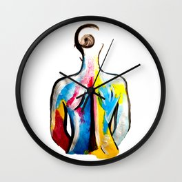 Primary Woman Wall Clock