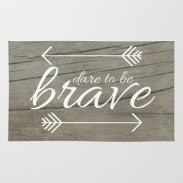 Dare to be Brave Rug