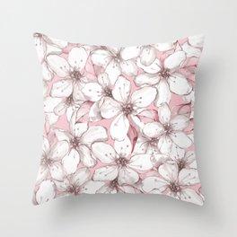 Chery blossom Throw Pillow