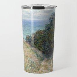 1882-Claude Monet-Road at La Cavée, Pourville-60 x 81 Travel Mug