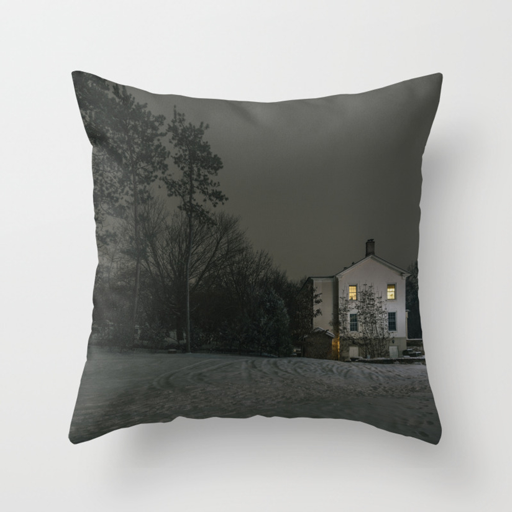 The House By The Cemetery Throw Pillow by Peterbaker PLW967316