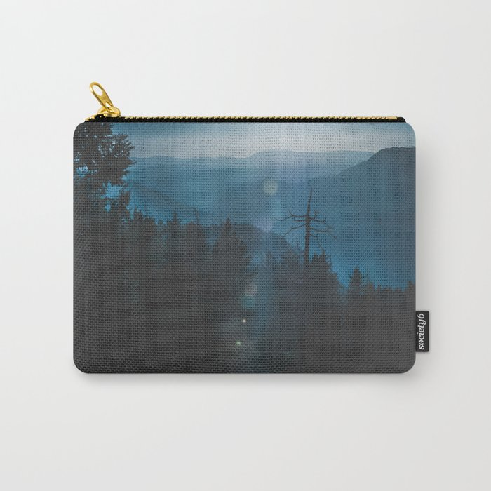 Yosemite, Blue Carry-All Pouch