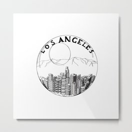 Los Angeles in a glass ball 2  ( https://society6.com/vickonskey/collection ) Metal Print