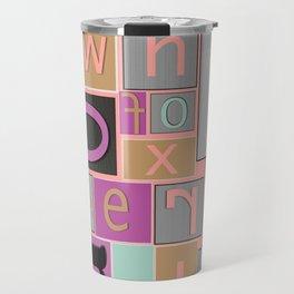 fun bright alphabet jumble Travel Mug