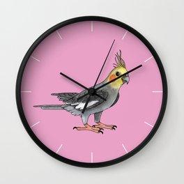 Cockatiel bird Wall Clock