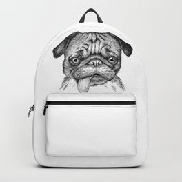Pug with Tongue out Backpack