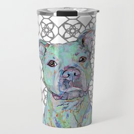 Staffy Portrait Travel Mug