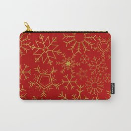 Red and gold snowflakes Carry-All Pouch
