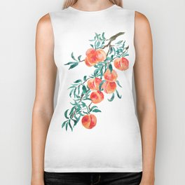 peach watercolor Biker Tank