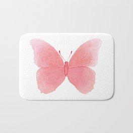 Watermelon pink butterfly Badematte