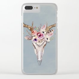 Deer Skull 2 Clear iPhone Case