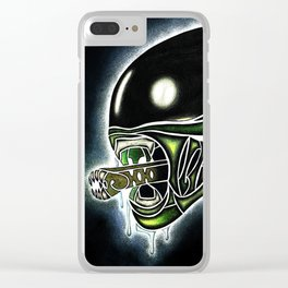 Cyber Alien Clear iPhone Case