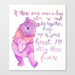 Purple Pooh Bear Canvas Print