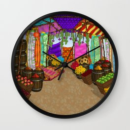 At The Bazaar Wall Clock