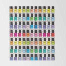 Pantone color Nail Polish Spring color Throw Blanket