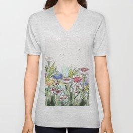 Wild flowers Unisex V-Neck