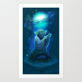 Yoda and the Force Art Print