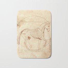 Da Vinci Horse In Piaffe Bath Mat