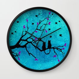Lovecats - Together forever Wall Clock