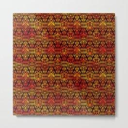 Afican Mask pattern Metal Print