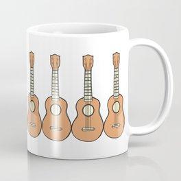 Row of Ukes Coffee Mug