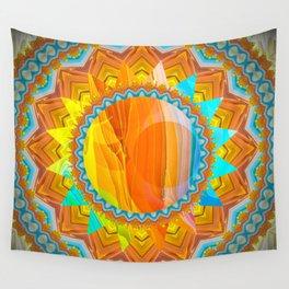 Moon and Sun Mandala Design Wall Tapestry