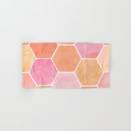 Desert Mood Hexagon Print Hand & Bath Towel