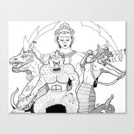 harryhausen's monsters Canvas Print