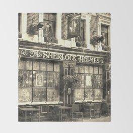The Sherlock Holmes pub Vintage Throw Blanket
