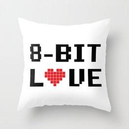 8 Bit Love Throw Pillow