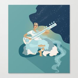 Sitar Girl Canvas Print