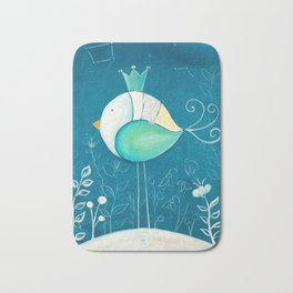 Little prince with a green crown Bath Mat