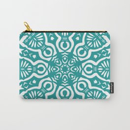 Polish Papercut Dancers Teal Carry-All Pouch