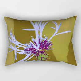 Cornflour Blue Flower Graphic Pop Art Rectangular Pillow