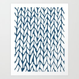 Hand Knitted Navy Art Print