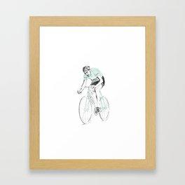 Coppi on Track Framed Art Print