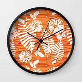 Orange Forest Wall Clock