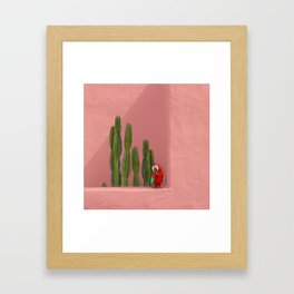 Macaw in Mexico Framed Art Print