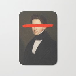 Portrait of a Man - Paint Stroke Bath Mat