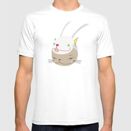 CAT WITH RABBITZ MASK T-shirt