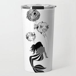 Circus Mermaid and Balloon Fish Travel Mug